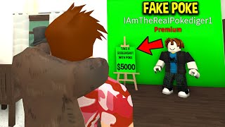 I Found A FAKE POKE Trying to SCAM My Fans.. (Roblox)