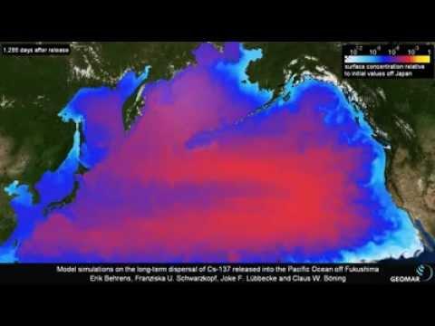 太平洋 #放射能 拡散10年間予想(字幕) #Fukushima #Cesium Dispersed #Pacific in10Ys