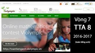 Giải toán bằng tiếng Anh - Lớp 8 - Vòng 7 - năm học 2016-2017