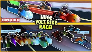 BIGGEST TRON BIKE RACE ON JAILBREAK EVER! (20 PEOPLE!) | Roblox