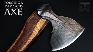 Forging a Damascus Axe