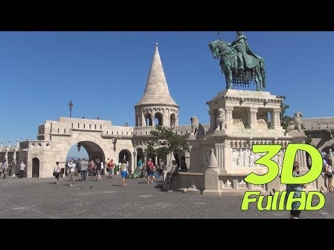 [3DHD] Walking Tour/Gyalogtúra: Fisherman's Bastion / Halászbástya, Budapest, Hungary / Magyarország