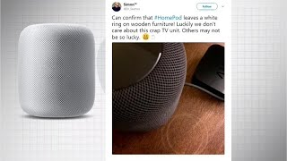 Apple addresses HomePod ring stains