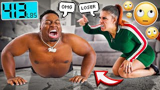 LOSE WEIGHT OR I'M LEAVING YOU PRANK ON HUSBAND