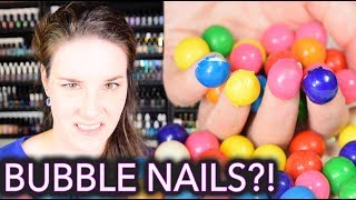 Reaction to Bubble Nails and DIY - U KNO U WANNA