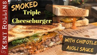 How to Grill the Best Burger - Smoked Texas Toast Cheeseburger