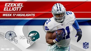 Ezekiel Elliott Ends the Season Big w/ 141 Total Yards! | Cowboys vs. Eagles | Wk 17 Player HLs