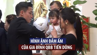 Tan chảy với hình ảnh ngọt ngào của trung vệ Bùi Tiến Dũng giành cho vợ con tại Quả bóng vàng 2020