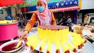 Chinese Street Food in Xi'an - MUSLIM Street Food in China + INCREDIBLE Chinese Food Market (HALAL)