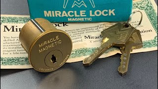 """[856] Vintage High Security: The """"Miracle Magnetic"""" Lock Picked and Gutted"""