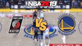 NBA 2K19 - Golden State Warriors vs. Portland Trail Blazers - Full Gameplay (1080P 60FPS HD!)