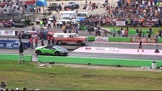 Lamborghini vs FARM TRUCK DRAG RACE ( STREET OUTLAWS