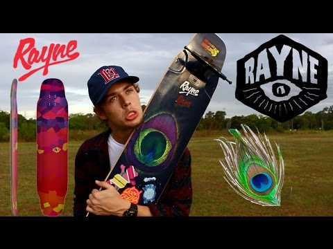 """Video RAYNE Deck PEACOCK GRAPHIC WHIP 44"""""""