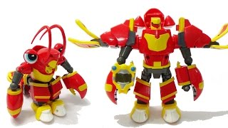 Robot siêu nhân biến hình Tôm hùm hậu đậu - Robot khiên chắn