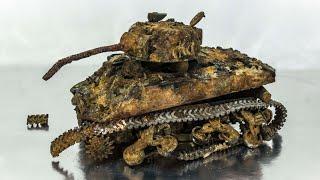M4 Sherman Restoration Abandoned US Tank