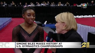 Simone Biles Makes History at U.S. Gymnastics Championships