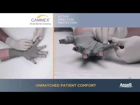 Ansell - GAMMEX Silver Barrier Dressing - Glove