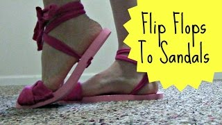 How To Recycle Flip Flops Into Sandals | Pinterest Project | Jendi's Journal