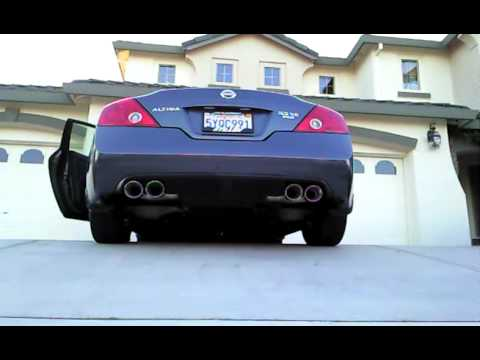 Altima Coupe Exhaust Youtube