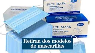Consumo ordena retirar dos modelos de mascarillas por no cumplir con la normativa