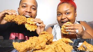 KFC CHICKEN & WAFFLES REVIEW + MUKBANG | FRITZ FAMILY ENTERTAINMENT