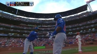 CHC@STL Gm2: Cubs score five runs in the 2nd inning