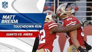 Matt Breida's Lightning-Fast TD Run vs. NY! | Giants vs. 49ers | NFL Wk 10 Highlights