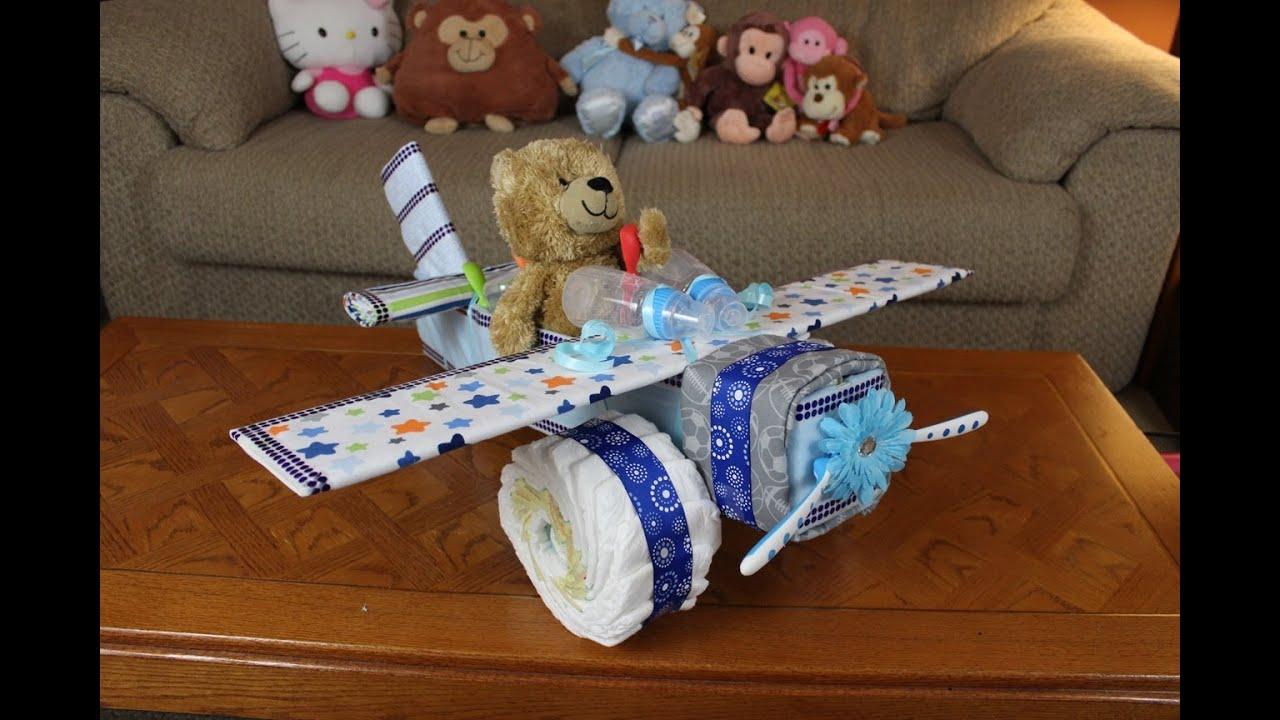 Boys Airplane Diaper Cake Youtube