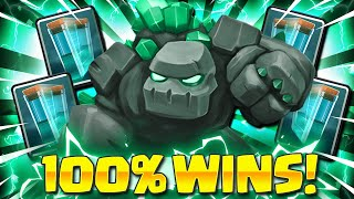 THIS IS LIKE CHEATING!! ZERO SKILL GOLEM DECK IN CLASH ROYALE!!