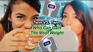 Who Can Gain The Most Weight In 24 Hours!? | MontoyaTwinz
