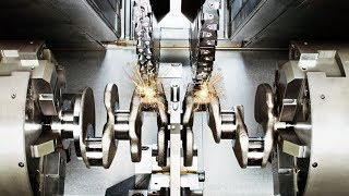 Germany CNC Technology - Lathe a Crankshaft for Volkswagen Super Car Engine