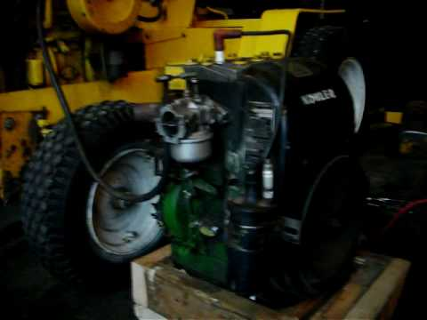 Low Idle Souped Up John Deere K241 10 Hp Kohler Engine
