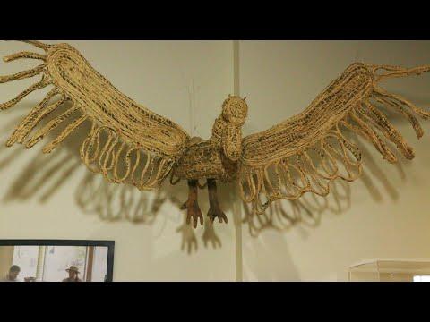 screenshot of youtube video titled Native American Artist Nancy Basket