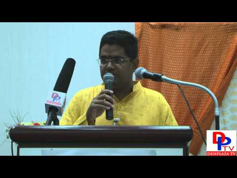 Mr.Hari Ramasubbu from SDF giving introductiory speech at Hindu Unity Day