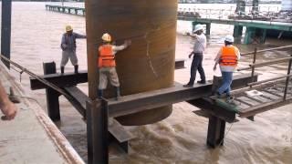 Cầu cao lãnh,cận cảnh thót tim công nhân xây dựng cầu đường việt nam