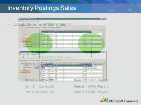 Dynamics AX 2009 Inventory Postings Sales Setup