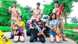 LTN Nerf War : SEAL Girls Winning Stratagems Poison Watermelon & Delta Force T Nerf Guns Girlboss