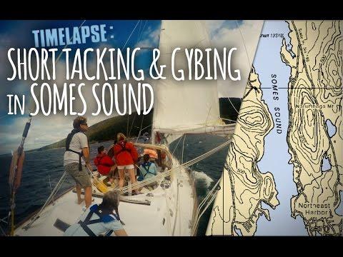 Timelapse: Sailing Somes Sound - Short Tacking & Gybing