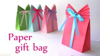 DIY crafts: Paper GIFT BAG (Easy) - Innova Crafts