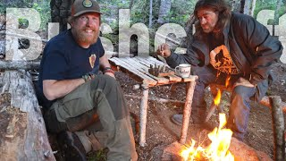 Bushcraft Table / DIY Camp Projects Day 23 of 30 Day Survival Challenge Canadian Rockies