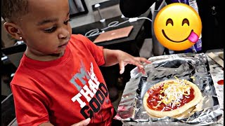 COOKING WITH BABY DJ (PART 1) | THE PRINCE FAMILY