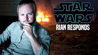 Star Wars! Rian Johnson Responds To NEW Trilogy & The Last Jedi (Star Wars News)