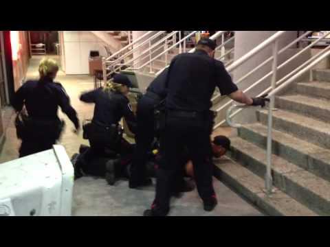 Conn. police TASER drunk man resisting arrest