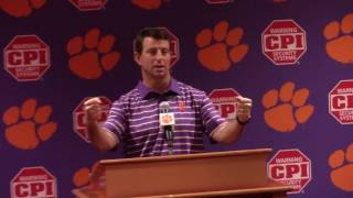 TigerNet.com - Dabo Swinney pre spring 2017 part two