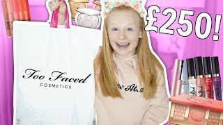 HUGE £250 TOO FACED MAKEUP SHOPPING HAUL! 😱 *omg*