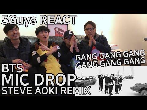 [SWAG FANBOYS] BTS - MIC DROP (Steve Aoki Remix) 5Guys MV REACT