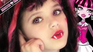 Draculaura Monster High Doll Costume Makeup Tutorial for Halloween or Cosplay | KittiesMama