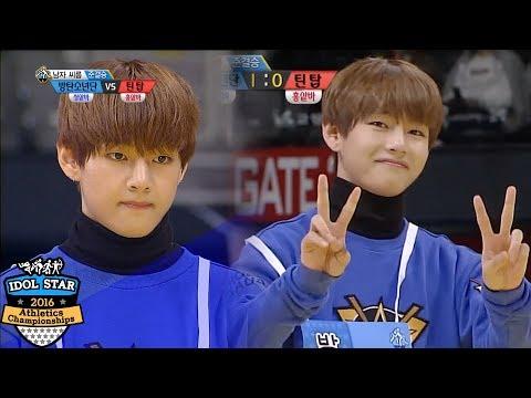 BTS TaeTae wins the match in '3' seconds! [2016 Idol Star Athletics Championships]