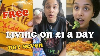 living on £1 a day for a week - DAY SEVEN | clickfortaz