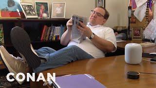 Andy's Apple HomePod Hack  - CONAN on TBS